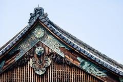 Detail van een Japans dak Stock Afbeeldingen