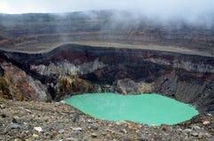 Detail van een krater met priscinewater Stock Foto's