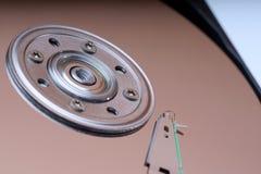Detail van een magnetische computerharde schijf Stock Foto's