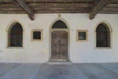 Detail van een middeleeuws huis, Spilimbergo, Friuli, Italië Royalty-vrije Stock Afbeeldingen