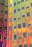 Detail van een modern bureaugebouw in Deventer Stock Afbeeldingen