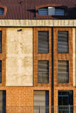 Detail van een Moderne Voorgevel van de Bouw Stock Fotografie