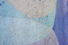 Detail van een mooie oude abstracte ceramische de muur Selectieve nadruk van de mozaïekdecoratie Royalty-vrije Stock Foto