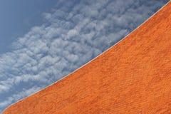 Detail van een Muur Bricked Royalty-vrije Stock Foto