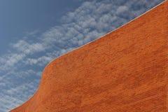 Detail van een Muur Bricked Stock Afbeeldingen