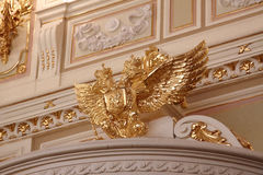 Detail van een muur in het paleis van de koninklijke adelaar Royalty-vrije Stock Afbeeldingen