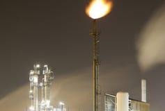 Detail van een olie-raffinaderij installatie royalty-vrije stock fotografie