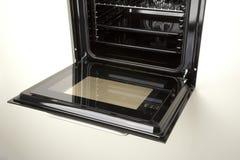 Detail van een open oven Stock Afbeelding