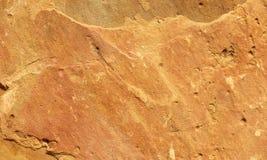 Detail van een oranje zandsteen Royalty-vrije Stock Afbeeldingen
