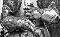 Detail van een oud middeleeuws pantser royalty-vrije stock foto