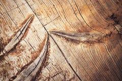 Detail van een oude gekraste houten raad Stock Afbeelding