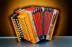 Detail van een oude harmonika royalty-vrije stock foto