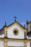 Detail van een oude kerk in Olinda, Recife, Brazilië royalty-vrije stock foto's
