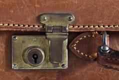 Detail van een oude leerkoffer Royalty-vrije Stock Foto's