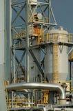 Detail van een raffinaderij Stock Foto
