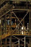 Detail van een raffinaderij 14 Stock Foto