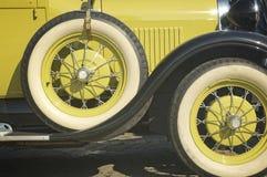 Detail van een retro auto Stock Afbeelding