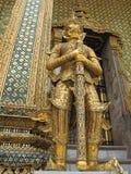 Detail van een reus, Wat Phra Kaew, Bangkok, Thailand Stock Foto's