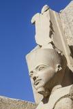 Egyptisch standbeeld in Luxor Royalty-vrije Stock Afbeeldingen