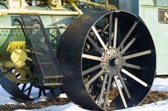 Detail van een stoom aangedreven tractor royalty-vrije stock foto