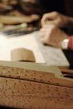 Detail van een struisvogelhuid Royalty-vrije Stock Afbeeldingen