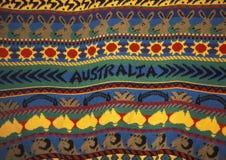 Detail van een sweater met Australisch ontwerp stock foto's