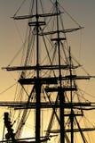 Detail van een uitstekend varend schip stock afbeeldingen