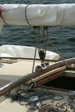 Detail van een varend jacht. stock foto's