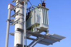 Detail van een voltagetransformator Stock Afbeelding