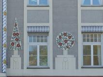 Detail van een voorgevel van de vrijheid bouw van München in Duitsland Royalty-vrije Stock Afbeelding