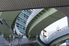 Detail van een weg van de grond over de stad van Kobe in Japan royalty-vrije stock foto's