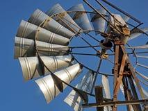 Detail van een windpump in de Kaap, Zuid-Afrika Royalty-vrije Stock Foto's