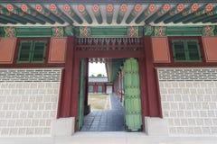 Detail van erfenispagode bij Gyeongbokgung-Paleis Royalty-vrije Stock Foto