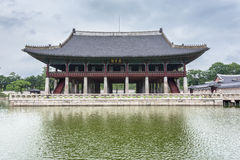 Detail van erfenispagode bij Gyeongbokgung-Paleis Stock Foto