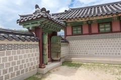 Detail van erfenispagode bij Gyeongbokgung-Paleis royalty-vrije stock fotografie