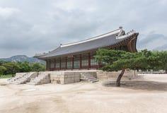 Detail van erfenispagode, park bij Gyeongbokgung-Paleis Stock Afbeeldingen