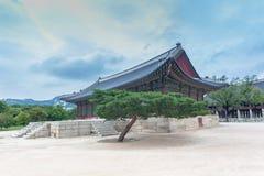 Detail van erfenispagode, park bij Gyeongbokgung-Paleis stock fotografie