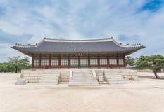 Detail van erfenispagode, park bij Gyeongbokgung-Paleis Stock Foto