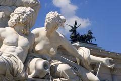 Detail van fontein in Wenen Royalty-vrije Stock Fotografie