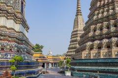 Detail van gebouwen in het Grote Paleis in Bangkok Thailand Royalty-vrije Stock Afbeeldingen