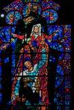 Detail van gebrandschilderd glas Royalty-vrije Stock Afbeeldingen