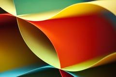 Detail van gegolfte gekleurde document structuur Stock Fotografie