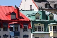 Detail van gekleurde gebouwen Stock Fotografie