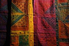 Detail van gekleurde stof Royalty-vrije Stock Afbeeldingen