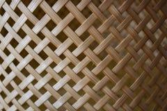 Detail van gemakkelijk mandewerk: de achtergrond van de bamboemand Royalty-vrije Stock Fotografie