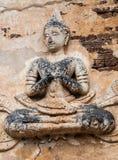 Detail van gesneden hulp in Borobudur Royalty-vrije Stock Foto