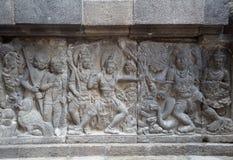 Detail van gesneden hulp in Prambanan Stock Afbeelding