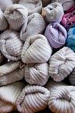 Detail van Gesorteerde Sokken Stock Afbeeldingen