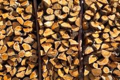 Detail van gestapeld hout royalty-vrije stock foto