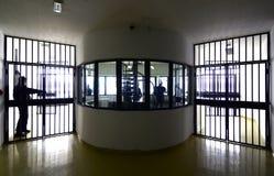 Detail van gevangenis stock afbeeldingen